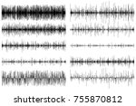 a set of sound equalizers.... | Shutterstock .eps vector #755870812