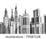urban generic architecture... | Shutterstock .eps vector #75587128