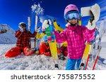 teenager taking a selfie  girl... | Shutterstock . vector #755875552