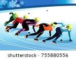 a vector illustration of speed... | Shutterstock .eps vector #755880556
