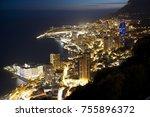 Monaco Landscape By Night
