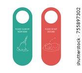 hotel door privacy hanger. do... | Shutterstock .eps vector #755897302
