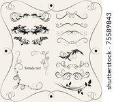 vintage frame for design and... | Shutterstock .eps vector #75589843