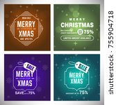 merry christmas typography for... | Shutterstock .eps vector #755904718