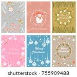 vector design of merry... | Shutterstock .eps vector #755909488