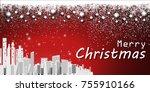 merry christmas festival... | Shutterstock .eps vector #755910166