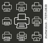 printer vector icon. white... | Shutterstock .eps vector #755913838