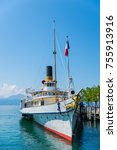 Small photo of Paddle steamer on the leman lake