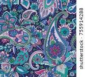 seamless pattern based on...   Shutterstock .eps vector #755914288