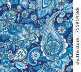 seamless pattern based on... | Shutterstock .eps vector #755914588