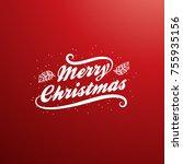 merry christmas vector text... | Shutterstock .eps vector #755935156
