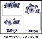 vintage delicate invitation... | Shutterstock .eps vector #755940778