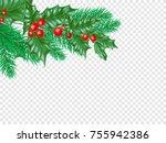 christmas greeting card... | Shutterstock .eps vector #755942386