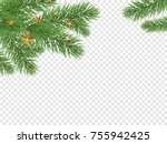 christmas holiday greeting card ... | Shutterstock .eps vector #755942425