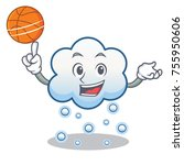 with basketball snow cloud... | Shutterstock .eps vector #755950606