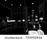abstract sketch design of... | Shutterstock . vector #755950936