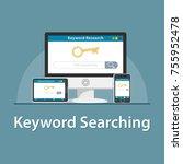 seo keyword seacrh | Shutterstock .eps vector #755952478