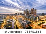 downtown skyline at sunset. los ... | Shutterstock . vector #755961565