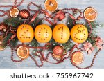 Christmas Oranges With Figures...