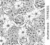 Stock vector seamless floral pattern 75598201