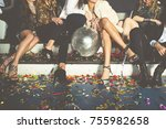 new year party celebration with ... | Shutterstock . vector #755982658