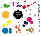 set of ink in different colors | Shutterstock .eps vector #755985658