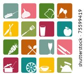 food square icons set.... | Shutterstock .eps vector #75599419