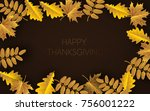 happy thanksgiving day... | Shutterstock .eps vector #756001222