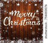 merry christmas card with text... | Shutterstock .eps vector #756003076