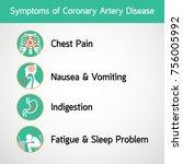 symptoms of coronary artery... | Shutterstock .eps vector #756005992