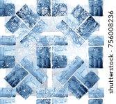 geometric seamless pattern.... | Shutterstock . vector #756008236