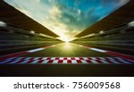 evening speedy motion blur... | Shutterstock . vector #756009568