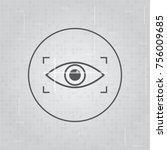 retina scan  eye scan ...   Shutterstock .eps vector #756009685
