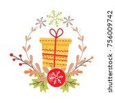 Pretty Yellow Christmas Badge...