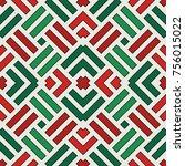 wicker seamless pattern. basket ... | Shutterstock .eps vector #756015022