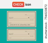 check blank paper. blank check... | Shutterstock . vector #756023872