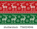 christmas seamless pixel... | Shutterstock .eps vector #756024046