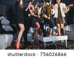 new year celebration party in... | Shutterstock . vector #756026866