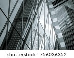 windows of commercial building... | Shutterstock . vector #756036352