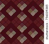 seamless vector tiled pattern.... | Shutterstock .eps vector #756039385