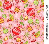seamless pattern on a... | Shutterstock .eps vector #756040735