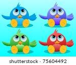 vector illustration of four... | Shutterstock . vector #75604492