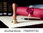 law  attorney  notary public...   Shutterstock . vector #756055732