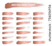 Stock vector set of brushes paints strokes lines grunge 756056956