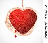 heart shape vector icon... | Shutterstock .eps vector #756062365