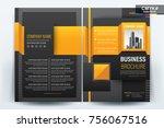 vector brochure layout  flyers... | Shutterstock .eps vector #756067516