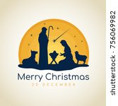 merry christmas banner sign... | Shutterstock .eps vector #756069982