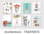 hand drawn vector abstract fun... | Shutterstock .eps vector #756070072