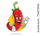 chili pepper character design... | Shutterstock .eps vector #756073906
