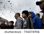 thessaloniki  greece   november ... | Shutterstock . vector #756076906